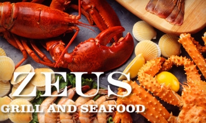 Zeus Grill and Seafood - Mount Pleasant: $12 for $25 Toward Dinner Fare and Drinks at Zeus Grill and Seafood in Mount Pleasant (or $7 for $15 Toward Lunch)