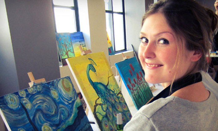 Saratoga Paint & Sip Studio - Saratoga Springs: Two-Hour Painting Classes with Wine for Two or Four at Saratoga Paint & Sip Studio (Up to 55% Off)