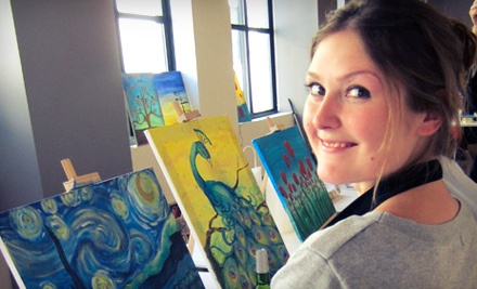 2-Hour Painting Class and Wine for 2 (a $90 value) - Saratoga Paint & Sip Studio in Saratoga Springs