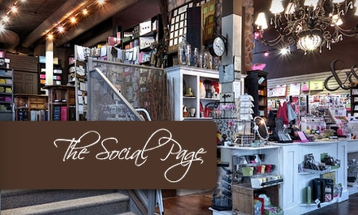 The Social Page - Beltline: $10 for $20 Worth of Stationery, Gifts, Accessories, and More at The Social Page