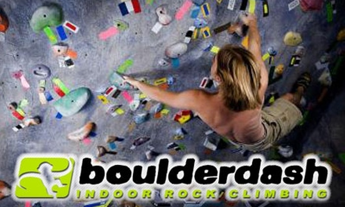 Boulderdash Indoor Rock Climbing - Westlake Village: $10 for Open Climbing at Boulderdash Indoor Rock Climbing