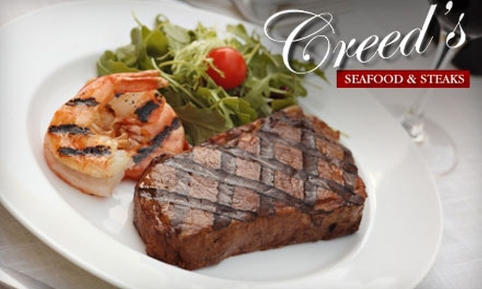 Creed's Seafood & Steaks - Upper Merion: $25 for $50 Worth of Cuisine and Drinks at Creed's Seafood & Steaks