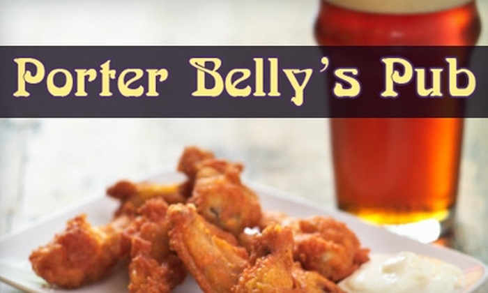Porter Belly's Pub - Brighton: $10 for $20 Worth of Burgers and More at Porter Belly's Pub