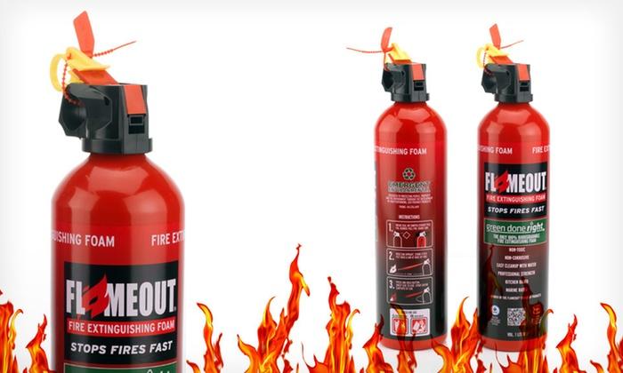 Flameout Fire-Extinguishing Foam: $16.99 for a Two-Pack of Flameout Fire-Extinguishing Foam ($34.99 List Price). Free Shipping.
