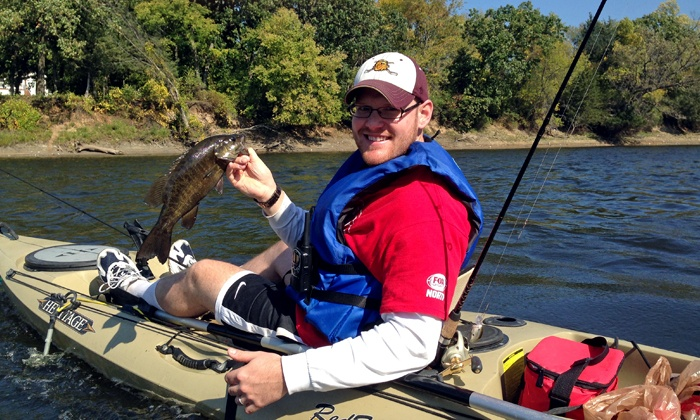 Clear Waters Outfitting Company - Clear Waters Outfitting: Kayak Fishing Package for 1, 2, or 3 on Mississippi River from Clear Waters Outfitting Company (Up to 53% Off)