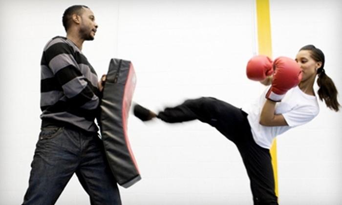 Studio Kicks Palo Alto - Palo Alto: One-Month Membership for Cardio Kickboxing or Kids' Classes to Studio Kicks Palo Alto