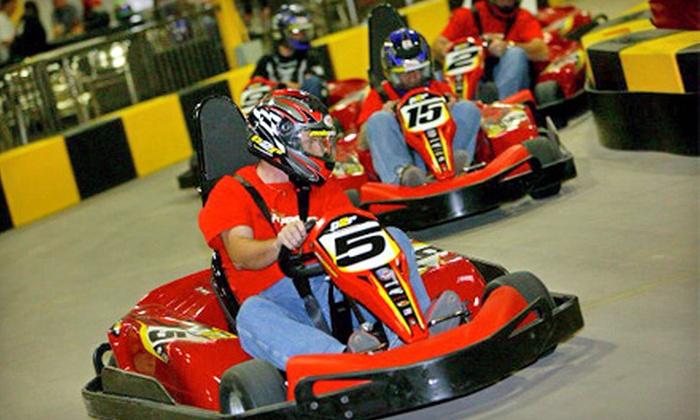 Pole Position Raceway - Corona: Three Indoor Kart Races at Pole Position Raceway