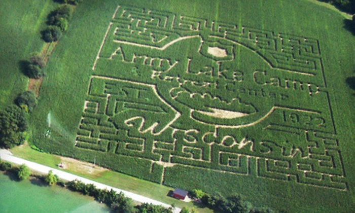 Army Lake Camp - East Troy: Corn-Maze Outing for Two, Four, or Six at Army Lake Camp in East Troy