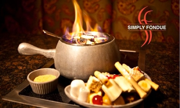 Simply Fondue Orange County - Multiple Locations: Dunkable Delights at Simply Fondue. Choose from Two Options.