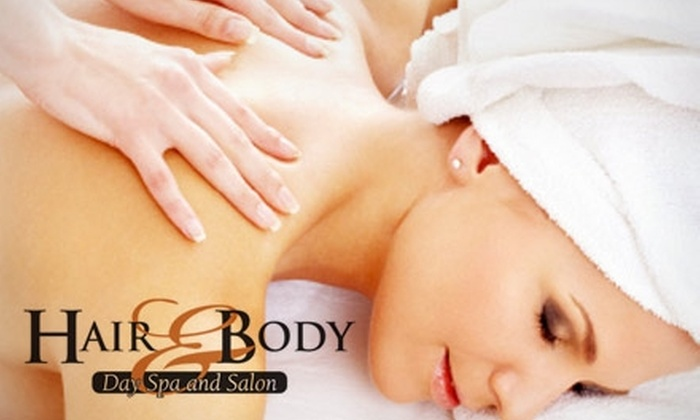 Hair & Body Day Spa and Salon - Gallatin: $47 for a 60-Minute Massage with a Hydrotherapy Soak at Hair & Body Day Spa and Salon