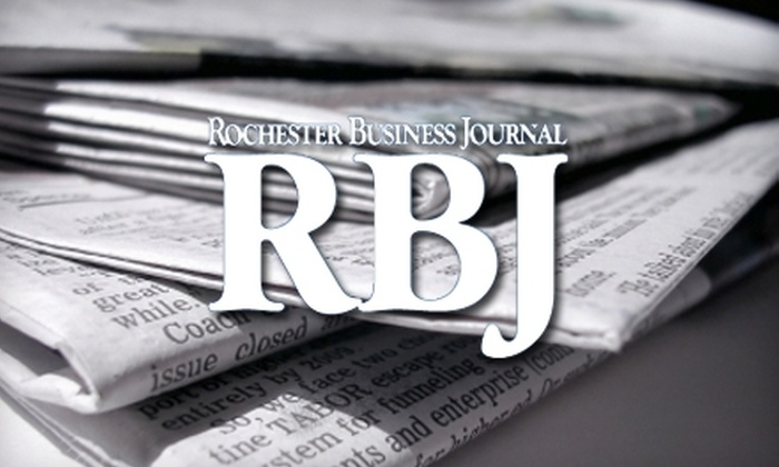 """Rochester Business Journal: $35 for 52 Issues of the """"Rochester Business Journal"""""""