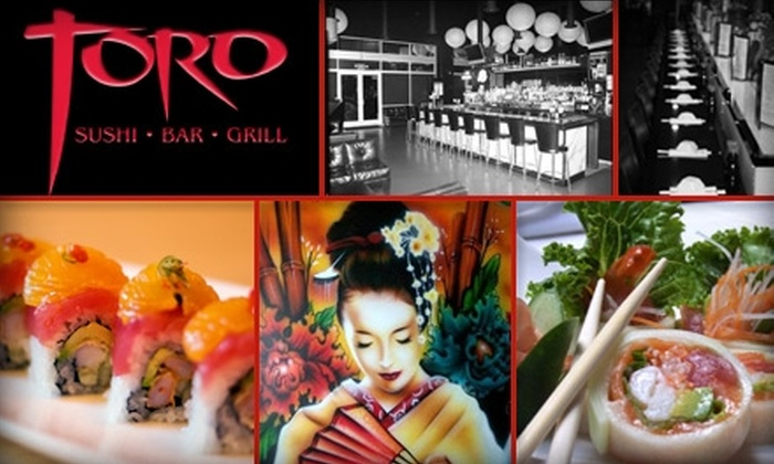 Toro Sushi Bar and Grill - Ontario: $15 for $35 Worth of Sushi, Sashimi, Tapas, and More at Toro Sushi Bar and Grill