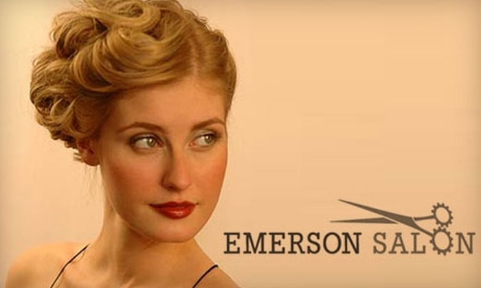 Emerson Salon - Broadway: $85 for $200 Worth of Services or $20 for a Shampoo, Cut, Blow-Dry, and Style ($40 Value) at Emerson Salon