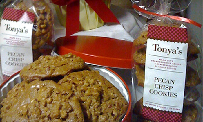 Tonya's Cookies - Downtown Chapel Hill: One-Pound Bag of Cookies or Three- or Six-Month Cookie of the Month Club Membership from Tonya's Cookies