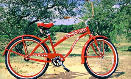All-Day Beach Cruiser Rental (a $22.50 value) - Barton Springs Bike Rental in Austin