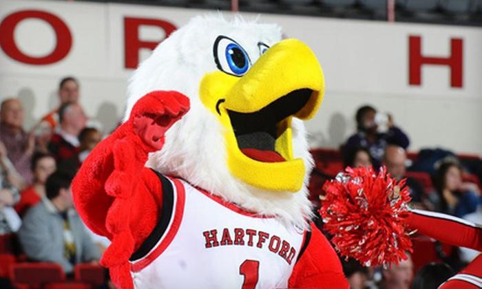 University of Hartford Athletics - West Hartford: Adult College-Basketball Ticket or Kids' All-Access Junior Hawks Pass to University of Hartford Athletics