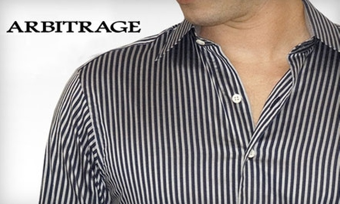 Arbitrage: $60 for $160 Worth of Menswear Online from Arbitrage
