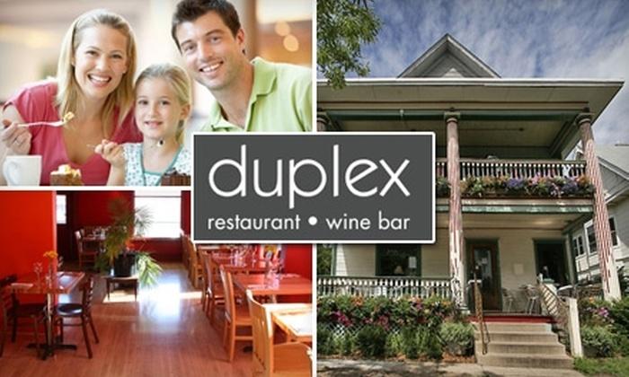 Duplex Restaurant & Bar - East Isles: $20 for $40 Worth of New American Cuisine and Drinks at Duplex Restaurant & Bar
