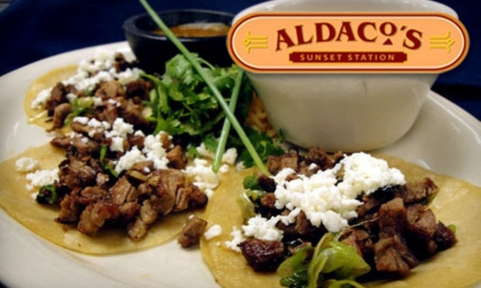 Aldaco's at Sunset Station - San Antonio: Artfully-Crafted Mexican Fare from Aldaco's at Sunset Station. Choose from Lunch or Dinner.