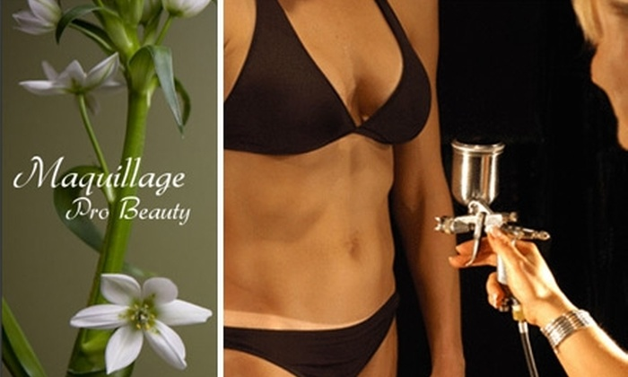 Maquillage Pro Beauty  - Allandale: $18 for an Organic Airbrush Tan at Maquillage Pro Beauty ($35 Value)