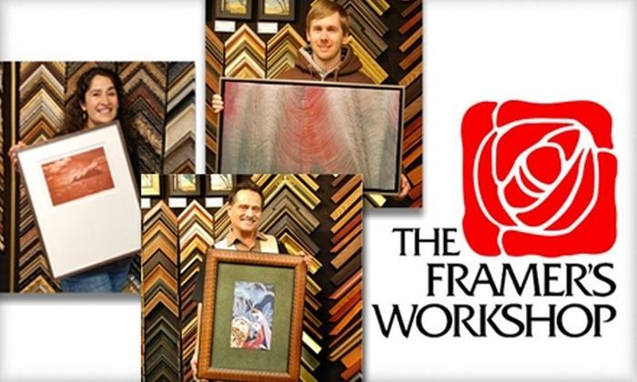 60 Off Framing Services The Framers Workshop Groupon