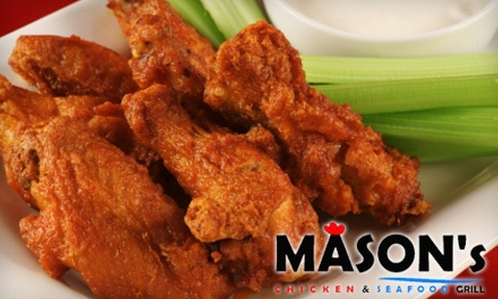 Mason's Chicken & Seafood Grill - Multiple Locations: $7 for $15 Worth of Southern Grilled Cuisine at Mason's Chicken & Seafood Grill