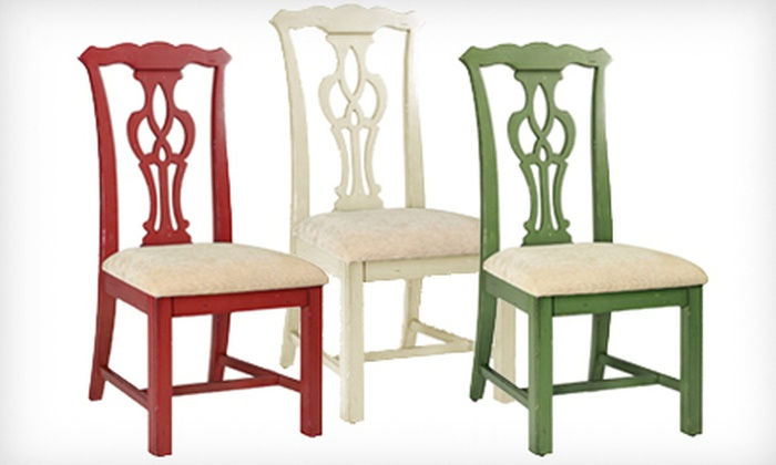 Home Decorators Collection: $129 for a Chippendale-Style Side Chair in Antique Ivory, Red, or Sage. Shipping Included ($199 Total Value).