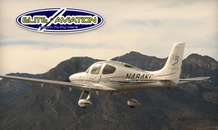 Elite Aviation - North Las Vegas: $125 for a One-Hour Basic Flight Lesson at Elite Aviation (Up to $372 Value)