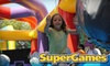 SuperGames: Bounce House Rentals - Worthington Village North: $15 for Five-Visit Punch Card to Indoor Open-Play Area at SuperGames