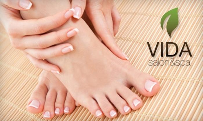 Vida Salon & Spa - Riverside: $25 for a Mani-Pedi at Vida Salon & Spa ($60 Value)