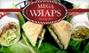 Mega Wraps CLOSED - Aurora: $5 for $10 Worth of Wraps, Salads, and Beverages at MegaWraps