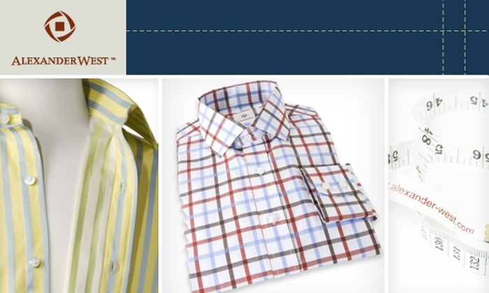 Alexander West - Miami: $50 for $110 Toward Custom-Tailored Shirts at Alexander West (Order Online)