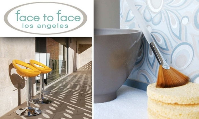 Face to Face Los Angeles - Studio City: $59 for an Iderm Dermaculture Facial Treatment at Face To Face Los Angeles ($125 Value) Plus 20% Off Beauty Products