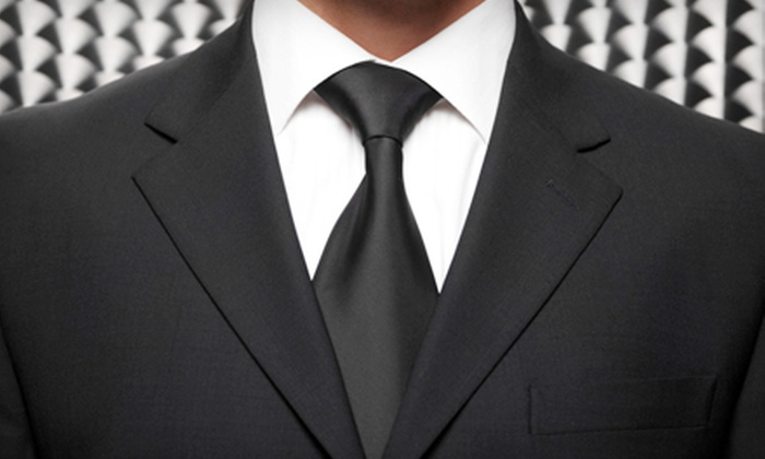 Navin's - Downtown: Custom Full-Suit Package or Four Egyptian-Cotton Shirts at Navin's (Up to 65% Off)