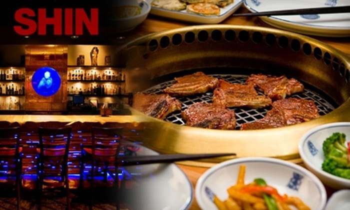 SHIN Hollywood - Hollywood: $15 for $30 Worth of Authentic Korean Barbecue Fare and Drinks at SHIN Hollywood