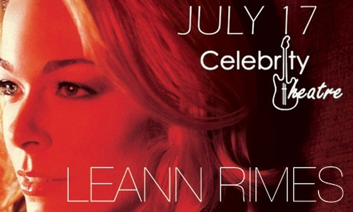 Celebrity Theatre - Phoenix: $25 Ticket to See LeAnn Rimes on Saturday, July 17, 2010, at 8 p.m. at Celebrity Theatre ($54.75 Value)