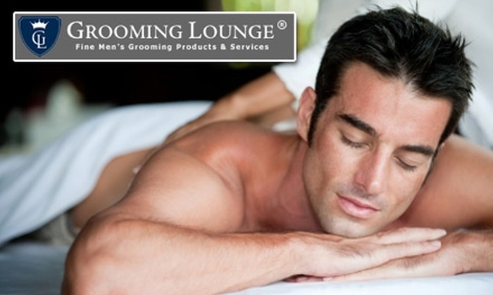 The Grooming Lounge - Multiple Locations: $25 for $50 Toward One Men's Massage, Facial, Manicure, Foot Treatment, or Waxing Service at The Grooming Lounge