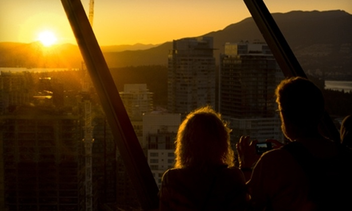 Vancouver Lookout - Downtown Vancouver: Day of Sightseeing for Two Adults or Family or Membership for One Adult or Family to Vancouver Lookout