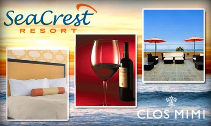 SeaCrest Resort & Clos Mimi - Los Angeles: $150 for Ocean-View Room at SeaCrest Resort, and Wine Tasting, Tour, and Bottle of Wine from Clos Mimi (Up to $424 Value)