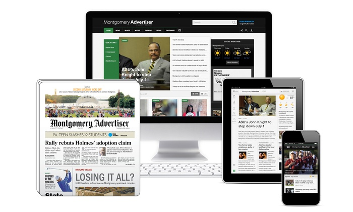 Montgomery Advertiser - Montgomery: 26- or 52-Week Sunday Subscription, or 52-Week Digital Subscription to Montgomery Advertiser (Up to 92% Off)