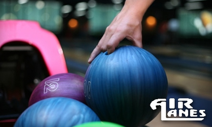 Air Lanes Bowling - Southwestern Hills: $20 for One Hour of Bowling, Shoe Rental for Up to Four People, and a Pitcher of Soda or Beer at Air Lanes Bowling (Up to $56.40 Value)