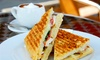 Panini, Cake and Hot Drink £4
