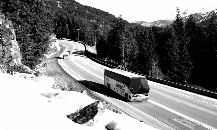 SNOWBUS  - Multiple Locations: Round-Trip Transportation for One or Two from SNOWBUS (41% Off)