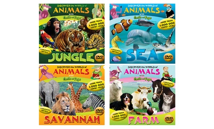 Discover the World of Animals 4-DVD Set