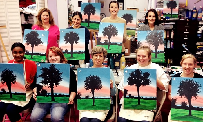 Art Smart Academy - Northwest Columbia: One Paint-A-Long Class for One, Two, or Six Adults at Art Smart Academy (Up to 53% Off)