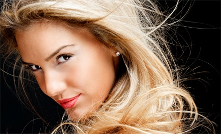 Haircut, Blow-Dry, and Deep-Conditioning Treatment with Option for Partial Highlights at Salon Blush (59% Off)
