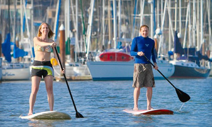 Covewater Paddle Surf - Eastside: $34 for an Intro to Standup Paddleboarding Lesson Package with Photos and T-shirt from Covewater Paddle Surf ($69 Value)