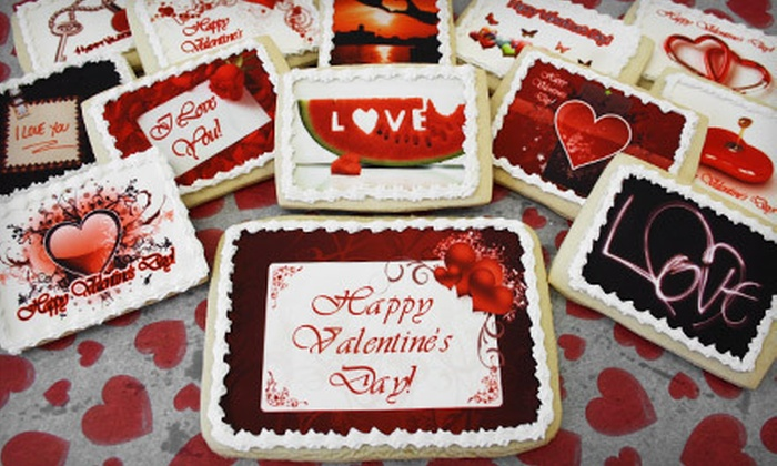 My Photo Cookie & more - Mcmillan: Valentine's Day Cookie Package or 12-Inch Heart Photo Cookie from My Photo Cookie & More in Headingley (Up to 52% Off)