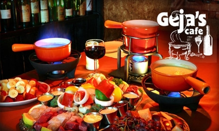 Geja's Cafe - Lincoln Park: $25 for $50 Worth of Fondue and Fine Wines at Geja's Cafe (or $25 for $60 if Redeemed Monday through Thursday)