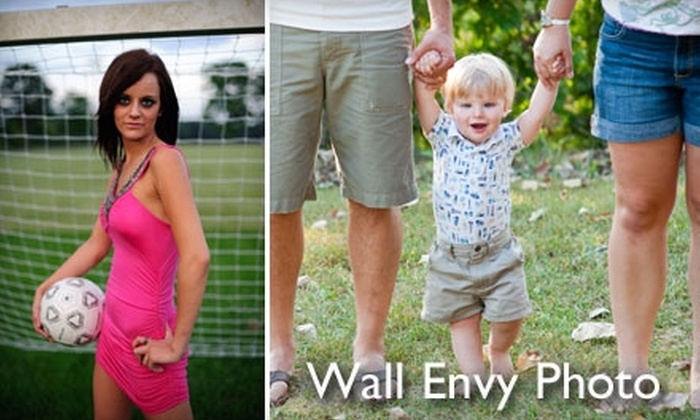 """Wall Envy Photo - Multiple Locations: $65 for an On-Location Photography Session and 11""""x14"""" Print Plus 50% Off Photo Holiday Cards from Wall Envy Photo ($225 Value)"""